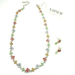 Napier Gemstone Necklace and Earrings